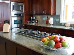 Stylish Kitchen Cabinets by Kitchen Brown Cabinet Electric Stove Brown Wood Countertop