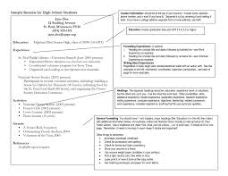 resume exles for highschool students exles of resumes for highschool students with no work