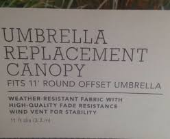 Threshold Offset Patio Umbrella 11 Ft Offset Umbrella Replacement Canopy Threshold Neutral