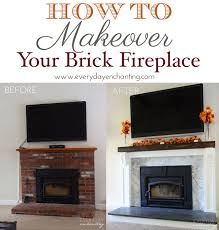 How To Resurface A Brick Fireplace by How To Cover Your Brick Fireplace Brick Fireplace Bricks And