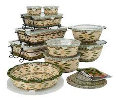 oven to table bakeware sets temp tations old world 24 piece complete oven to table set page 1