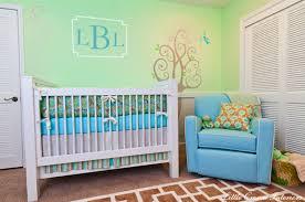 turquoise nursery glider transitional nursery little crown