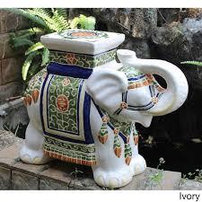 amazon com oriental themed large ivory white porcelain elephant