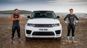 land rover water video range rover sport p400e takes on u2026 pro swimmers and water 2