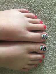 pedicure design done by elite nail spa in woodstock ga nail