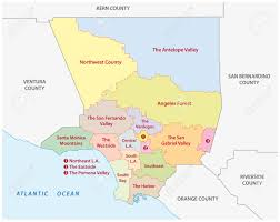 City Of Los Angeles Map by Map Of Los Angeles County