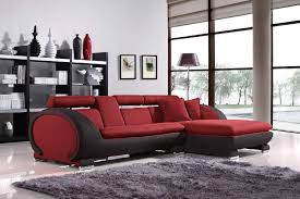 vig furniture fabric 1088b red sectional sofa left facing