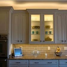 Kitchen Cabinet Lights Led Led Lighting Above Cabinet And Inside Glass Cabinet Undercabinet