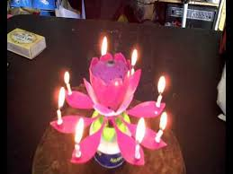 spinning birthday candle musical birthday sparkling