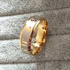 large gold rings images Buy high quality large size 8mm 316 titanium jpg