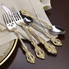 Oneida Kitchen Knives Oneida Golden Michelangelo 18k Ep Service For 4 18 10 Stainless