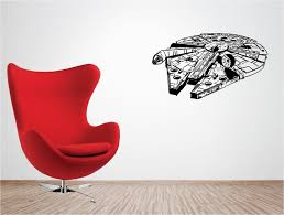 wall decoration ideas for bedrooms promotion shop for promotional g090 starwars millenium falcon vinyl wall art stickers art decal boy room ideas bedroom wall stickers decorative stickers