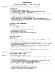 electrician resume exles senior electrician resume sles velvet