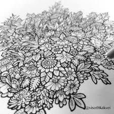 beautiful henna flowers and paisleys colouring by gwendaviesart