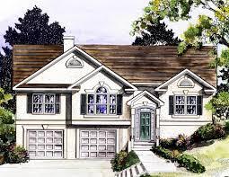 stylish split level home plan 3694dk architectural designs stylish split level home plan 3694dk 01