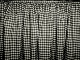 White Bed Skirt Queen Twin Black And White Gingham Check Bedskirt Dustruffle