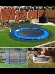 awesome trampoline idea island of misfit pins pinterest