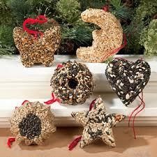 garland bird seed ornaments set of 6