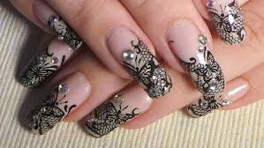 black butterfly lace nail art tutorial youtube