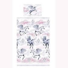 Cot Duvet Covers Stardust Unicorn Junior Cot Bed Duvet Cover Set Toddler Ebay