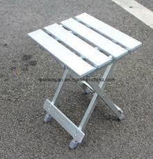 china aluminum alloy square stool portable folding stool outdoor