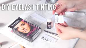 Mascara That Dyes Your Eyelashes How To Tint Your Eyelashes At Home Super Affordable Youtube
