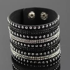 rhinestone cuff bracelet images Black rhinestone cuff bracelet jpg