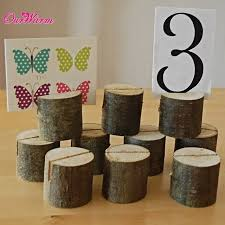 Wedding Table Number Holders Aliexpress Com Buy 50pcs Lot Natural Wooden Card Holder Seat