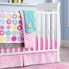 6 pc crib infant room kids baby bedroom set nursery bedding pink