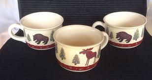rustic coffee mugs rustic 3 cabin creek coffee mugs papel giftware moose bear log
