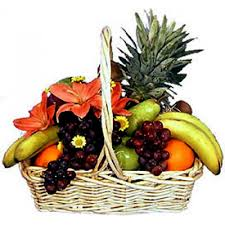 fruit basket delivery fresh fruits basket delivery a white basket of fresh fruits