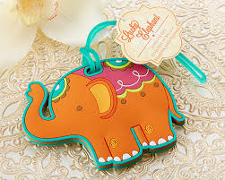 luggage tag favors lucky elephant luggage tag wedding favors