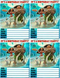 moana invitations free printables princess birthday party