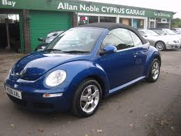 volkswagen beetle blue used volkswagen beetle luna 2006 cars for sale motors co uk