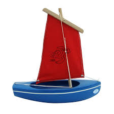 small toy boat 203 turtle blue 24cm little french heart