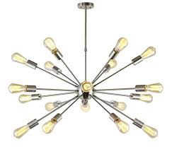 Sputnik Ceiling Light Vinluz Sputnik Chandelier Brushed Nickel 18 Lights Modern Pendant