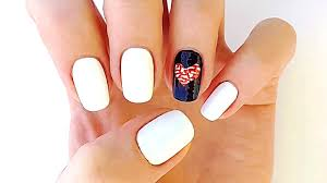 heart nail art without tools for one finger cute nail designs