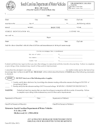 Motor Vehicle Bill Of Sale Template Pdf by Free South Carolina Motor Vehicle Bill Of Sale Form Formxls