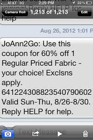 joanns coupon app more mobile savings at jo fabrics app mobile text coupons