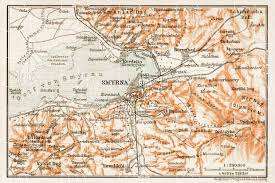 smyrna map map of smyrna izmir vicinity in 1914 buy vintage map