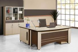 enchanting l shape wooden office desks with drawers in grey accent