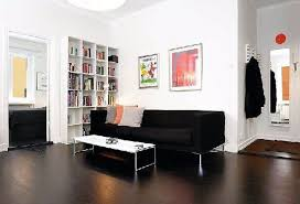 living room decor high gloss brown finish wooden flooring