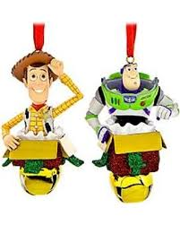 bargains on woody and buzz lightyear figural ornament set