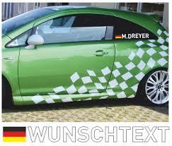 autoaufkleber design deutschlandflagge mit fahrer oder beifahrernamen aufkleber