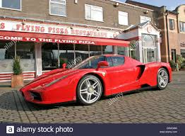 ferrari enzo ferrari enzo at the flying pizza leeds stock photo royalty free