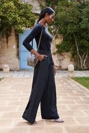 pinstripe wide leg pants long tall sally