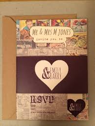 our comic book wedding invitations photos pinterest book