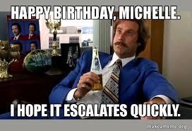 Michelle Meme - happy birthday michelle meme memeshappy com