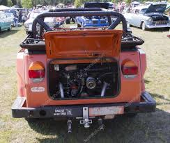 volkswagen thing 1974 volkswagen thing orange car rear view u2013 stock editorial photo