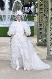 most beautiful wedding dress the most beautiful chanel couture wedding dresses of all time